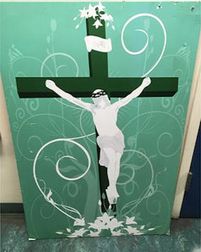 jesus painting hate crime Islamic center